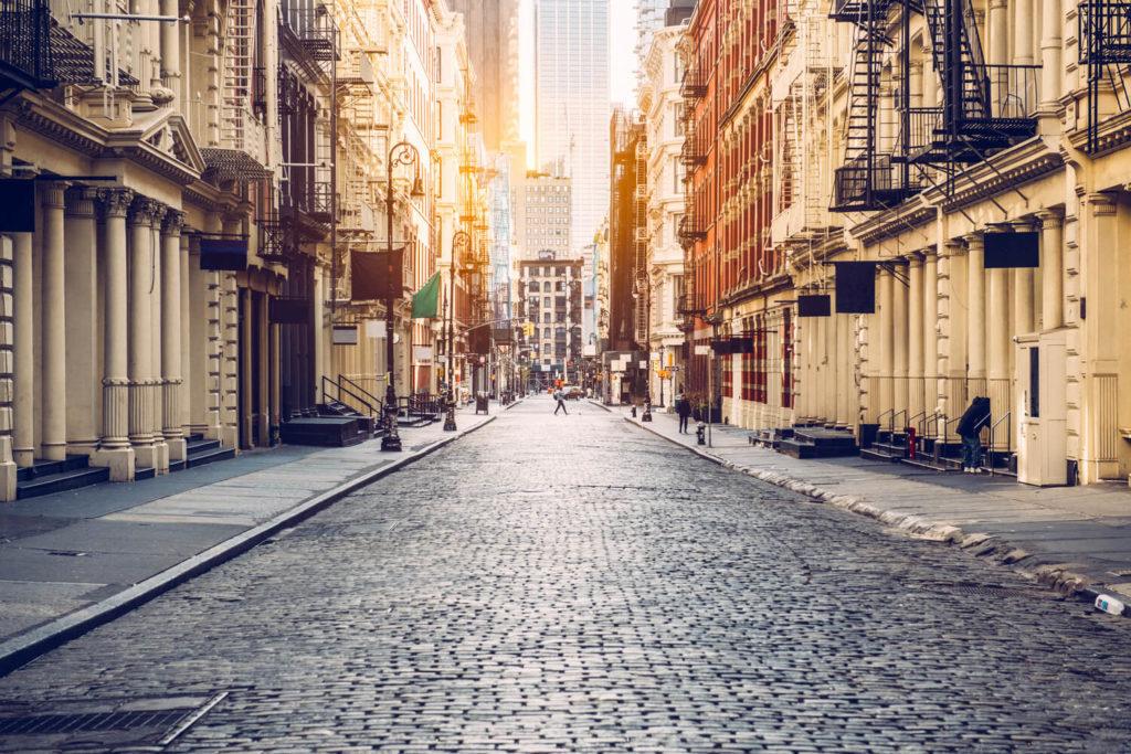 cobblestone streets soho manhattan nyc