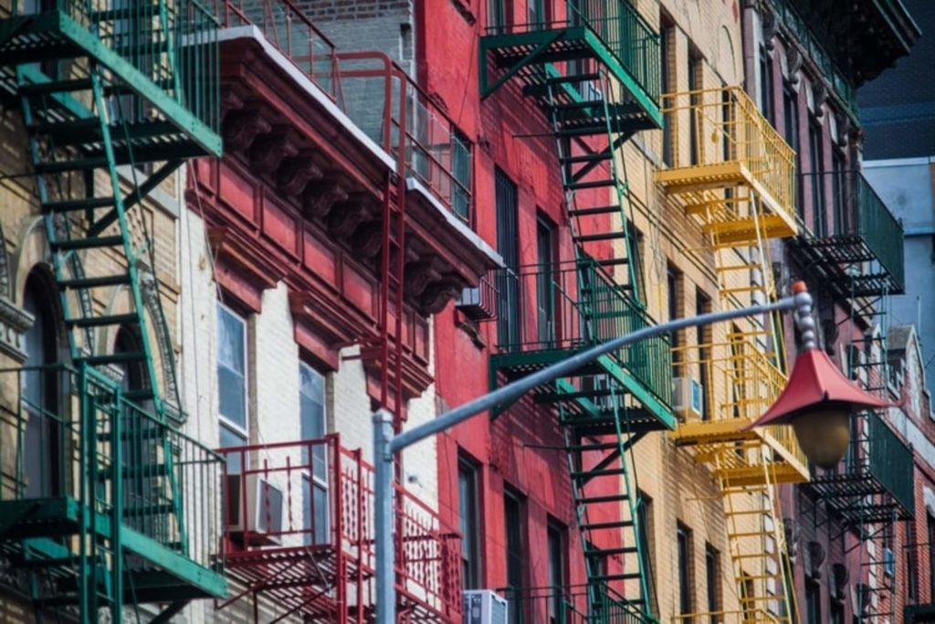 colorful buildings little italy manhattan nyc