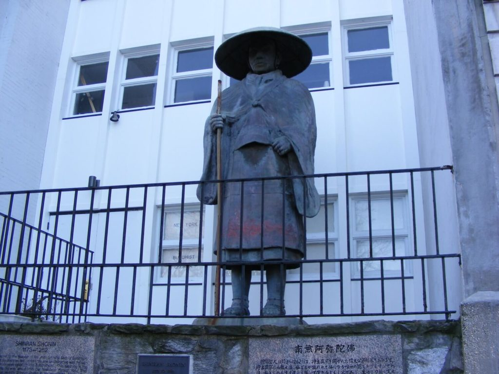 shinran shonin statue bloomingdale district manhattan nyc
