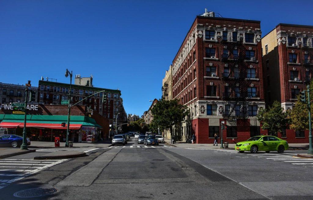 streetcorner harlem central manhattan nyc