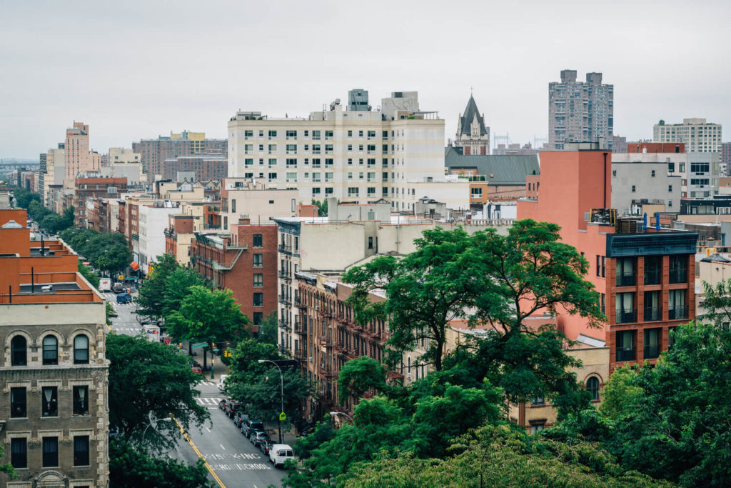 view from morningside heights west harlem manhattan nyc