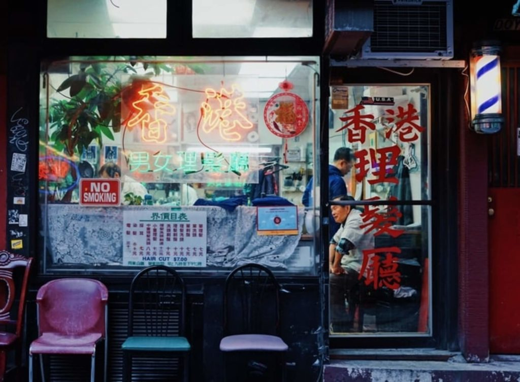 chinese barbershop chinatown manhattan nyc