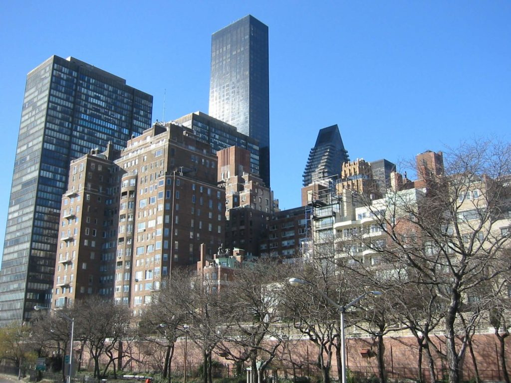 cluster of buildings beekman place manhattan nyc