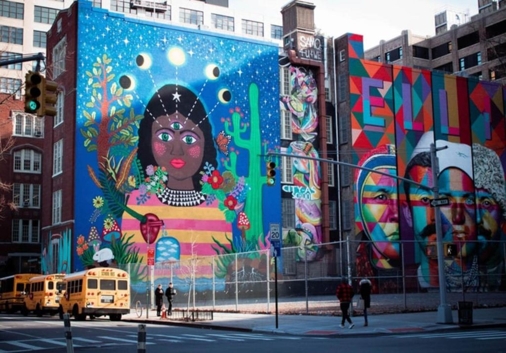 largest mural nyc west village manhattan nyc